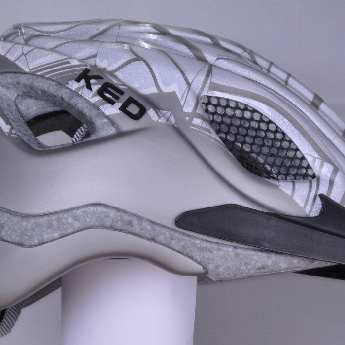 Reflective helmet silver matt