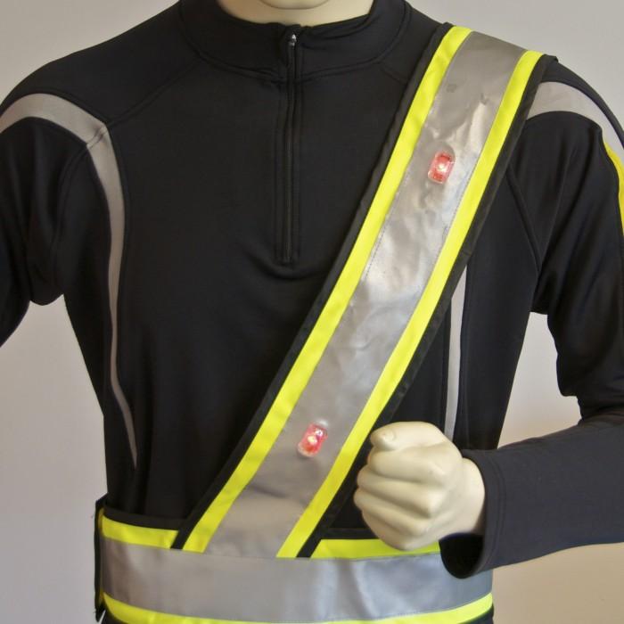 safeways.eu Motorist LED high visibility vest Sam Browne belt
