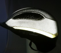 The patented reflex shell makes you 360 degrees visible at night