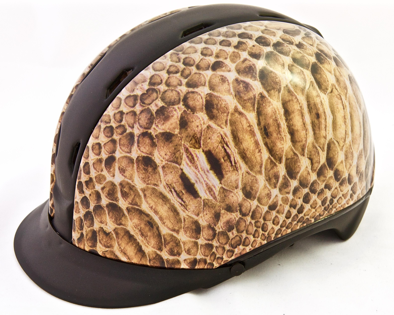 Unieke paardrijcap/ spring- en dressuurhelm met schildpad ...